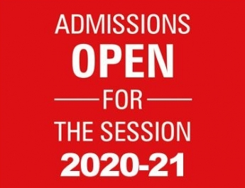 Admissions open for 2020-21